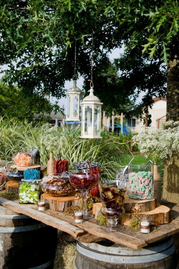 rustic wedding candy bar // Kristy Klaassen Photography