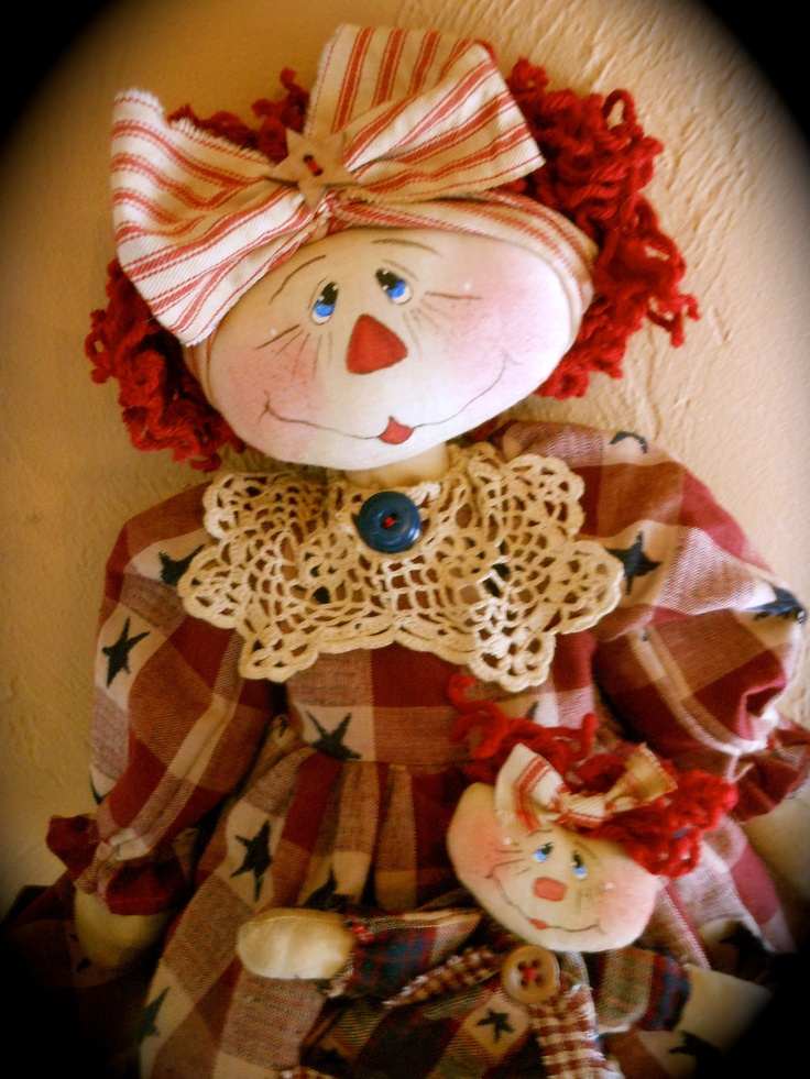 A rag doll AND stars! Two of my favorite things!!