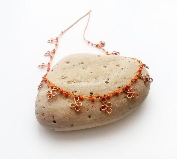 Gypsy anklet Boho beach jewelry Boho jewelry Beach by GuruMIme