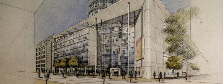 Haus mit Himmel | Im stilwerk Düsseldorf stehen seit dem Jahr 2000 alle Zeichen auf Design. Wir blicken gemeinsam mit den Architekten auf die Besonderheiten unseres Designcenters...