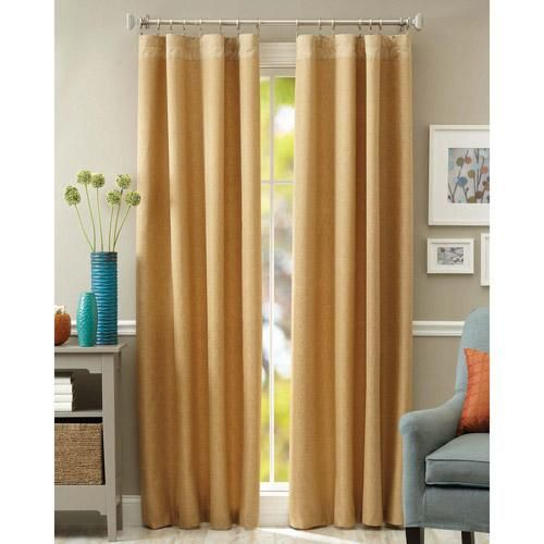 Lovely Better Homes And Gardens Metallic Textured Curtain Panel / Ivory