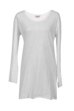 ChrisP by Chris Milonas White Blouse With Ripped Long Sleeves