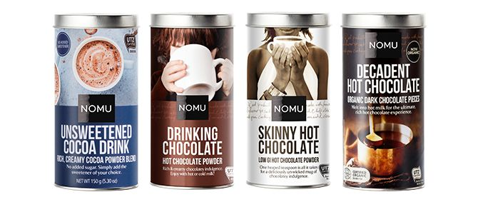 NEW! NOMU Unsweetened Hot Chocolate!