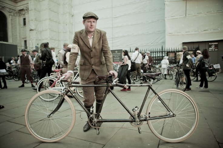 why have one when you can have that's made for two - London's Tweed Run