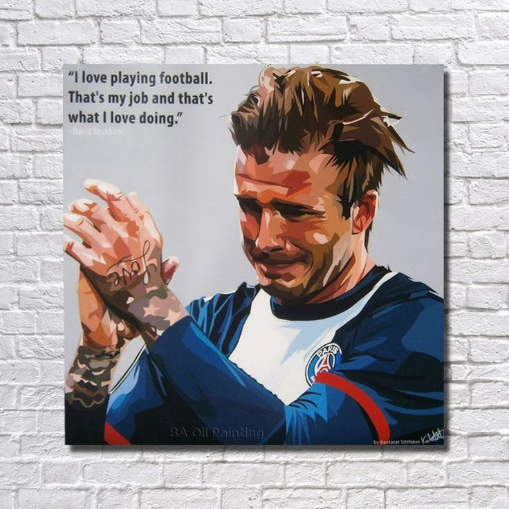 Wall Art Home Decoration Home Decor Decorative Fine Art Print Pictures David Beckham Football Star Pop Art RW390