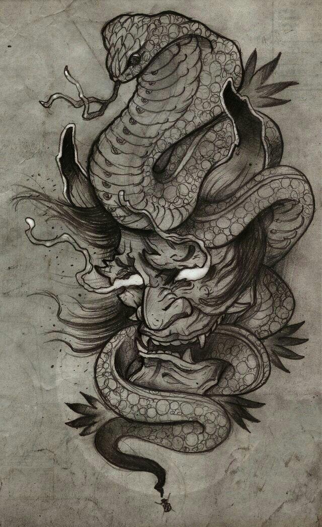 25+ bästa Hannya tattoo idéerna på Pinterest | Tatuagem