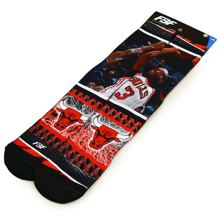 NBA Chicago Bulls Crew Socks 1 Pair - Dwyane Wade #3 (Large)