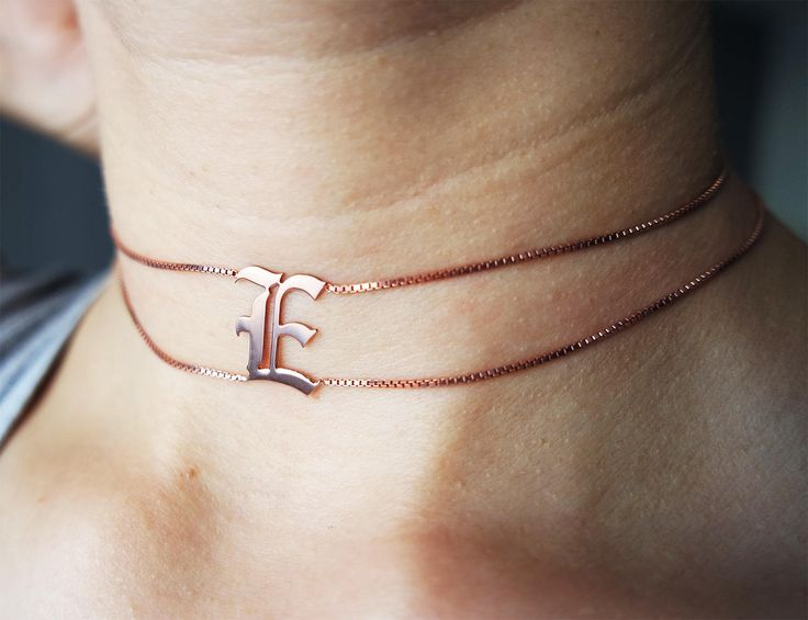 Personalized Choker Necklace, Name Necklace, Custom Necklace, Sterling Silver 925K, Hammared Necklace, Rose Gold, Silver, Choker Necklace by Debilita on Etsy