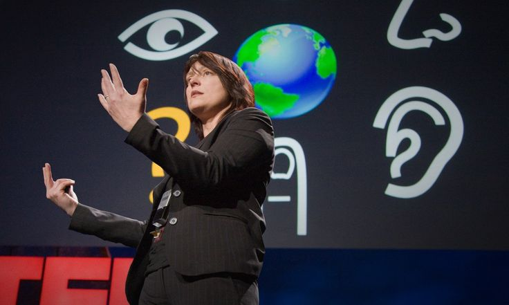 """This demo -- from Pattie Maes' lab at MIT, spearheaded by Pranav Mistry -- was the buzz of TED. It's a wearable device with a projector that paves the way for profound interaction with our environment. Imagine """"Minority Report"""" and then some."""