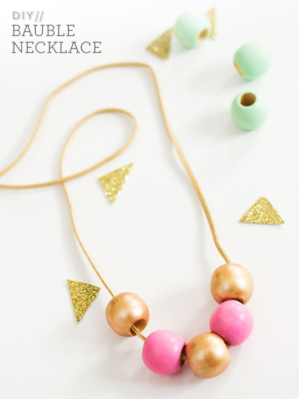 DIY Bauble Necklace by Sarah Hearts