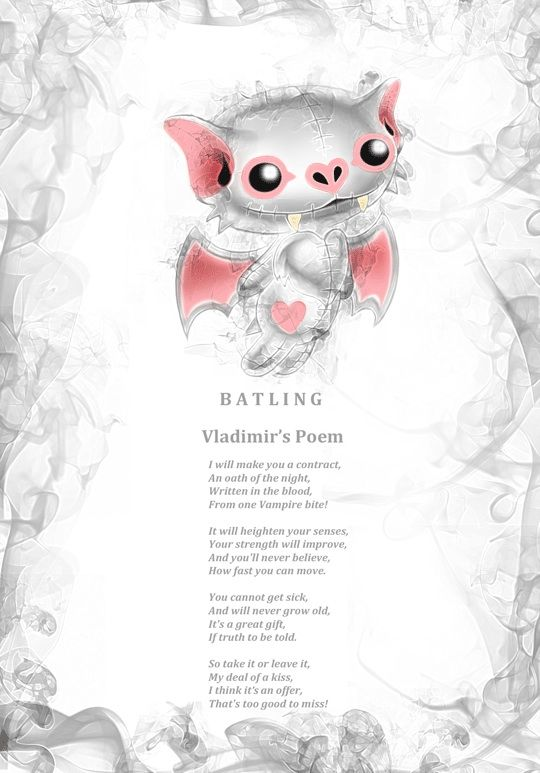 Vladimir Batling's offer sounds too good to miss, I think might sign his blood contract ❤️ www.myfrightlings.com