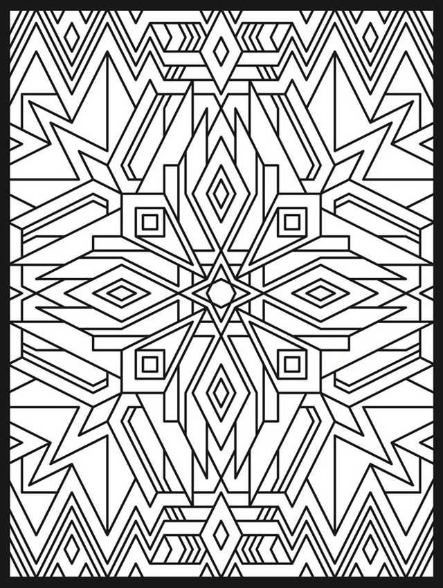 Open Ms Paint Select Paint Bucket Enjoy Geometric Coloring