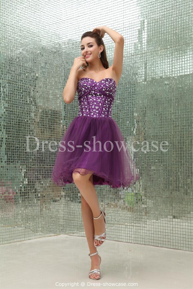 Beading  Short Silk-like Satin Sweet 16  Dress Wholesale Price: US$ 129.99