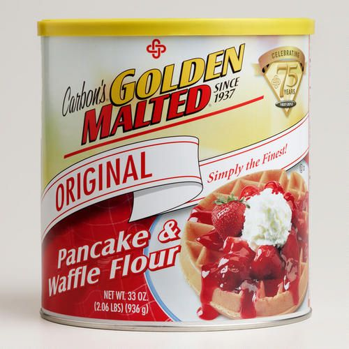 One of my favorite discoveries at WorldMarket.com: Carbon's Golden Malted Waffle Mix. They use this at hotels. It's great  mix for a waffle bar.