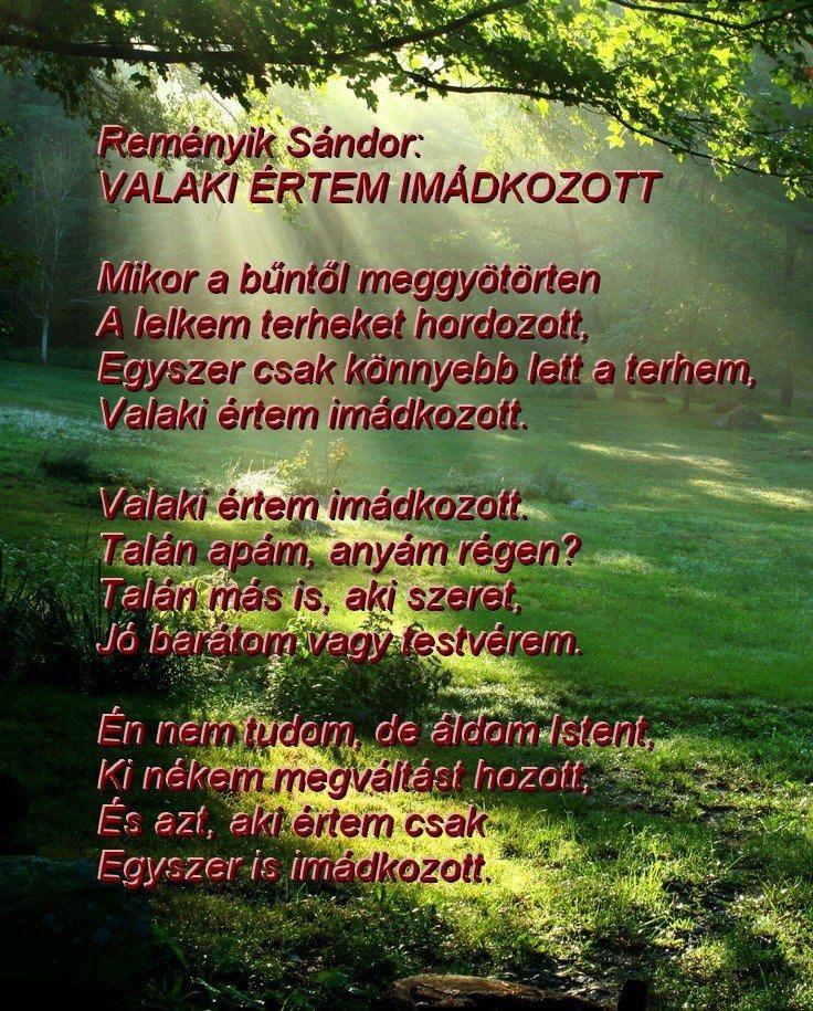 Reményik Sándor - Valaki értem imádkozott