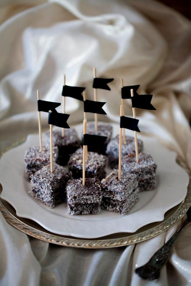 lamingtons cake pops styled by One Lovely Day, photography by Kat Cvet Photography