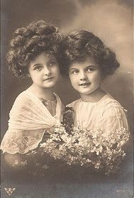 Vintage Rose Album with sweet sisters, so lovely!