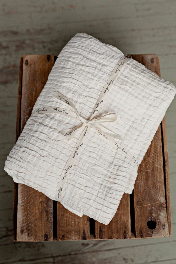 Ivory linen bed throw, pleated linen blanket in 2 sizes: big and small. by MagicLinen on Etsy https://www.etsy.com/listing/476763942/ivory-linen-bed-throw-pleated-linen