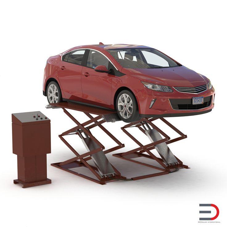 Automotive Scissor Lift Generic Rigged and Hybrid Car 3d model  http://www.turbosquid.com/3d-models/3ds-max-automotive-scissor-lift-generic/961523?referral=3d_molier-International