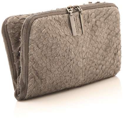 #clutch made of fish leather (perch)   Design by #HelmutLang
