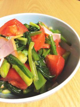 レンジで簡単!小松菜サラダ