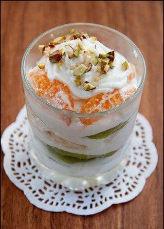 Творожно-мандариновый десерт