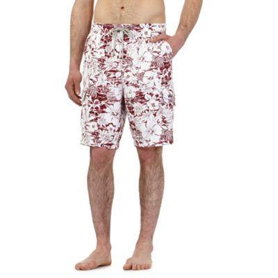 Mantaray Red floral print swim shorts   Debenhams