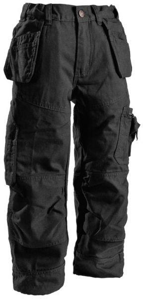 Slidstærke arbejdsbukser til børnene: Blåkläder 1500 håndværkerbukser til børn, 100% bomuld, sort (1546-1310-9900) - BILLIG-ARBEJDSTOJ.DK
