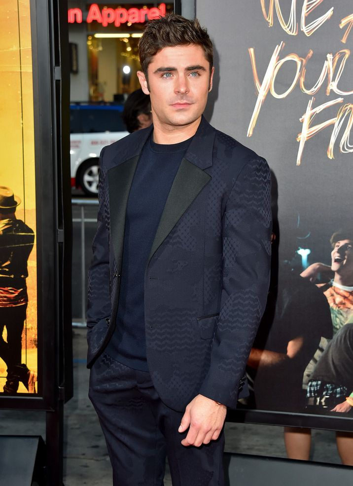 Zac Efron in Neil Barrett Spring Summer 2016 Menswear Collection at the Premiere of We Are Your Friends