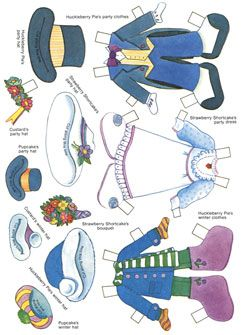 """✄ #Paper dolls.....""""Strawberry Shortcakes Paper Doll Book"""" Page 3"""