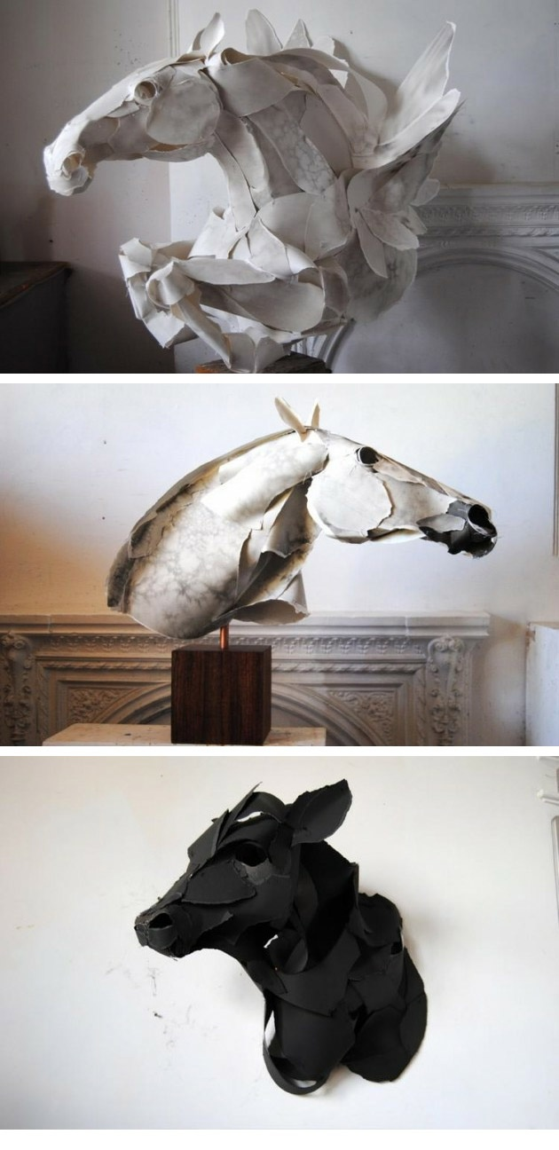 Paper sculptures by Anna Wili Highfield: Paper Animals, Highfield Paper, Horses, Annawili, Paper Art, Animal Sculptures, Paper Sculptures, Anna Wili Highfield