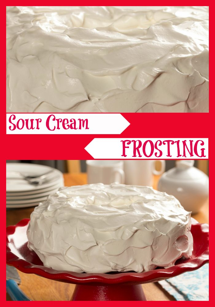Our quick and easy homemade Sour Cream Frosting takes only 4 simple ingredients! Frost your favorite cakes, cupcakes, and other desserts with this fresh-tasting creamy topping, and watch as they lick their plates clean!