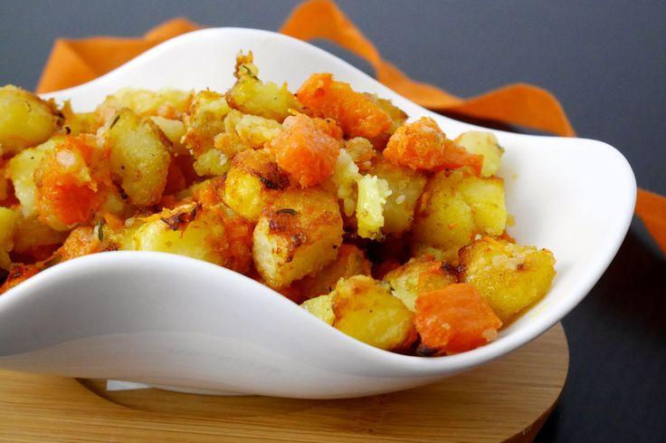 Dadolata di zucca e patate al fornol