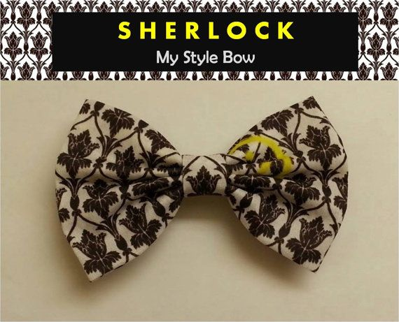 Sherlock Holmes  Inspired / Hair clip with Alligator by MyStyleBow, $5.99