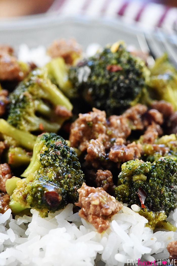 Easy Ground Beef And Broccoli Chinese Recipe Ground Beef Recipes Healthy Healthy Beef Recipes Healthy Hamburger Meat Recipes
