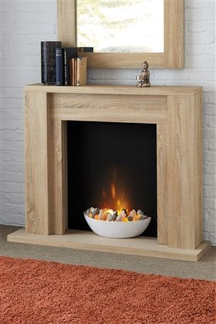 Electric fireplace from Next - love the bowl