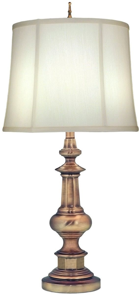 Genuine stiffel 3 way table lamp antique brass