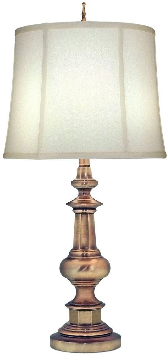 33 Inchh Genuine Stiffel 3 Way Table Lamp Antique Brass