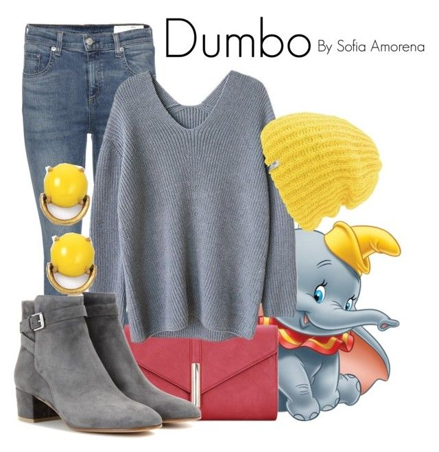 Dumbo by sofiaamorena on Polyvore featuring polyvore fashion style rag & bone Gianvito Rossi Stella & Dot Coal Disney clothing