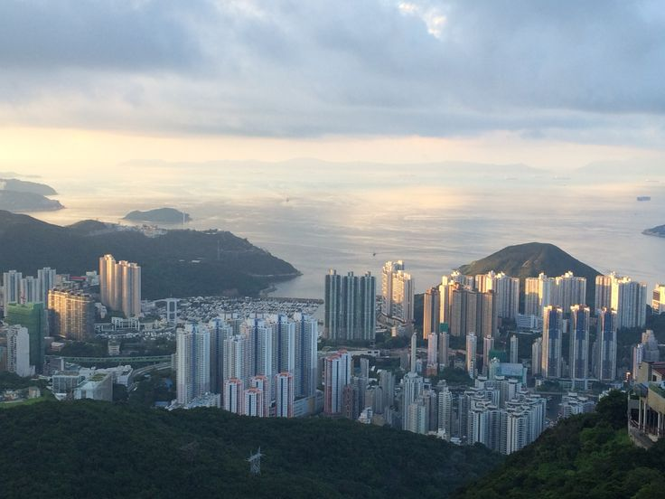 View from The Peak over Aberdeen Harbour, Hong Kong