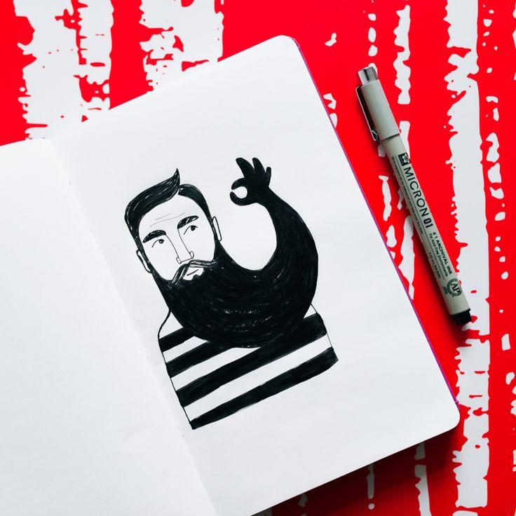 Beards are ok | Illustration by Charlota Blunarova | charlotablunarova.com