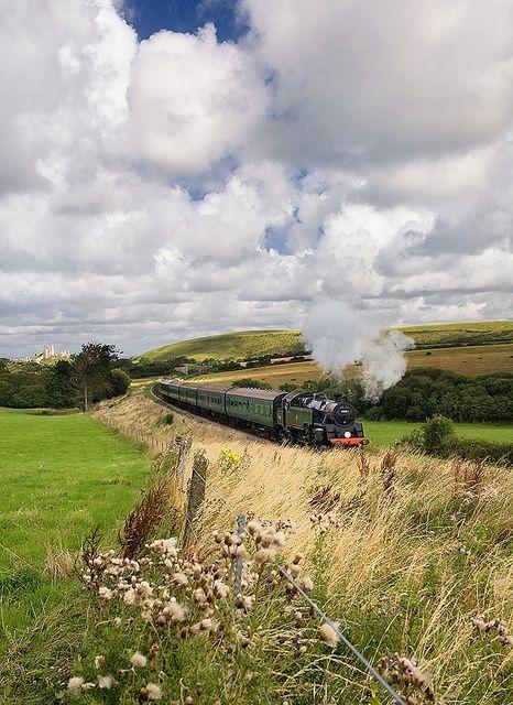 Swanage Railway near Dorset, England