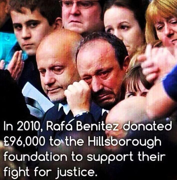 What a man Rafa Benitez is, will never forget this