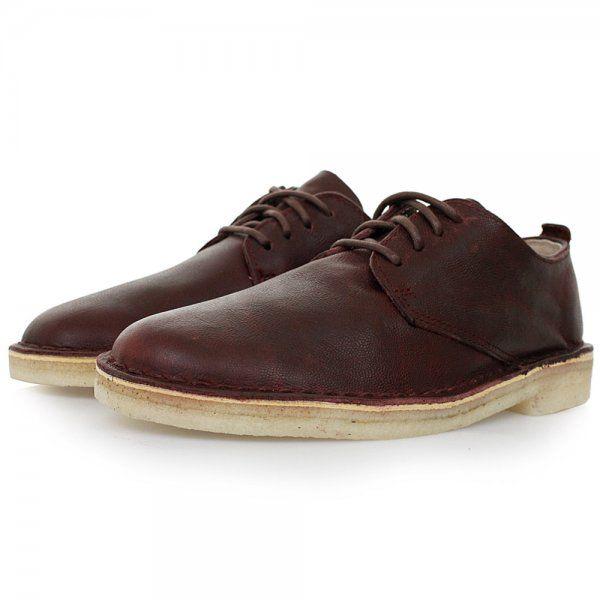 Clarks Originals Online | Desert London Wine Leather Shoes