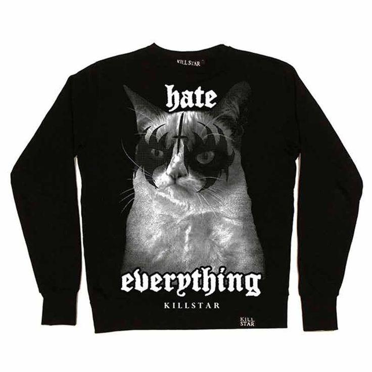 Hate Everything Sweatshirt – Brutalitees