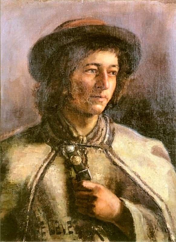 Góral w kapeluszu (Góralczyk), 1885-1886, Olej na płótnie, Muzeum Narodowe, Gdańsk.