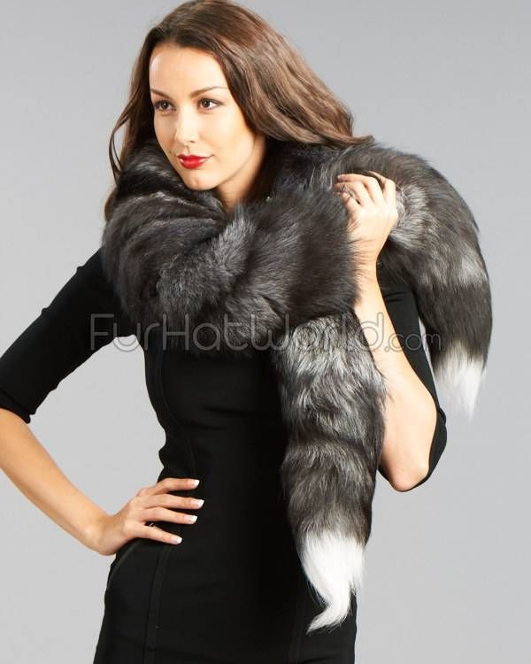 This Silver Fox Fur Boa Scarf is absolutely to die for. It's a must have for any stylish woman's wardrobe. You will look like pure luxury while wearing this stunning boa.