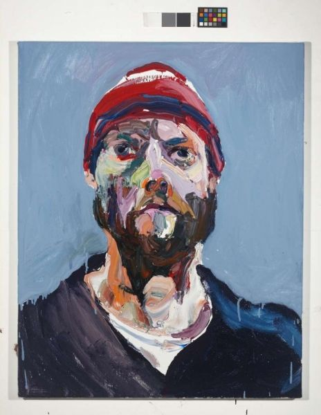 Ben Quilty Australian artist:  Self portrait after Afghanistan 3 2012