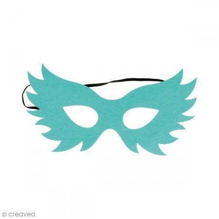 Máscara de fieltro - Pájaro azul turquesa - Fotografía n°1
