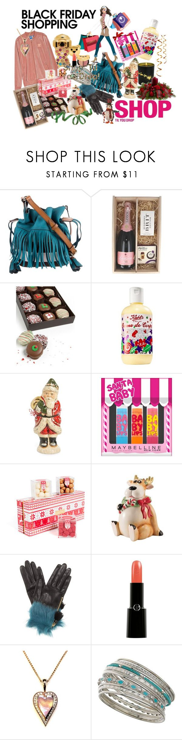 """""""Shop til you Drop - Black Friday Shopping"""" by susan-993 ❤ liked on Polyvore featuring Burberry, Piper-Heidsieck, Chocolate Covered Company, Vaillancourt Folk Art, Maybelline, sugarfina, Fitz & Floyd, Prada, Giorgio Armani and Miss Selfridge"""